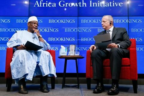 President Keïta and Brookings President John R. Allen discussed the nexus between security and development