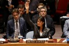 U.S. Ambassador to the United Nations Nikki Haley votes for a U.S. backed resolution for protection of Palestinians civilians during a Security Council meeting at U.N. headquarters in Manhattan, New York, U.S., June 1, 2018.   REUTERS/Shannon Stapleton - RC16E03F06A0