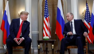 Trump meets with Putin in Helsinki, Finland.