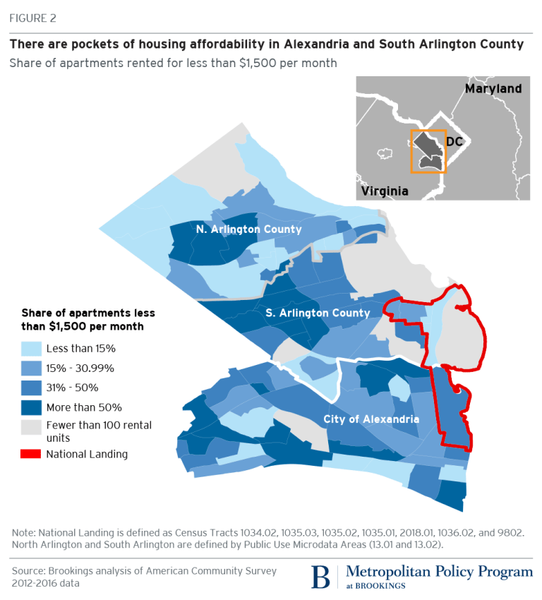 National Landing map by housing affordability