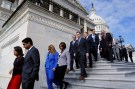 Newly-elected freshman U.S. House members depart the steps of the U.S. Capitol after holding a class photo in Washington, U.S. November 15, 2016. REUTERS/Jonathan Ernst - S1BEUMZTJDAB