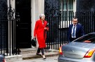 Britain's Prime Minister, Theresa May, leaves 10 Downing Street, to make a statement in the House of Commons, in London, Britain November 15, 2018.    REUTERS/Peter Nicholls - RC1620B3D870