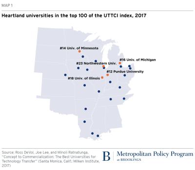 Heartland research universities map