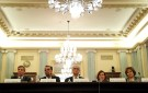 "Federal Trade Chairman Joseph Simons, (L), Federal Trade Commissioners (2nd L-R), Rohit Chopra, Noah Phillips, Rebecca Slaughter and Christine Wilson testify on the ""Oversight of the Federal Trade Commission"" before the U.S. Senate Consumer Protection, Product Safety, Insurance and Data Security Subcommittee in the Russell Senate Office Building in Washington, U.S., November 27, 2018. REUTERS/ Leah Millis - RC1654D52A80"