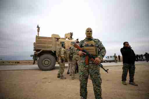Syrian Democratic Forces and U.S. troops are seen during a patrol near Turkish border in Hasakah, Syria November 4, 2018. REUTERS/Rodi Said - RC1A340091B0