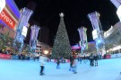 Dec 18, 2018; Los Angeles, CA, USA; People skate around a Christmas tree outside of the Staples Center before an NHL game between the Winnipeg Jets and the Los Angeles Kings. Mandatory Credit: Kirby Lee-USA TODAY Sports - 11869604