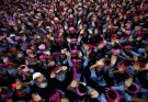 School girls wearing pink turbans wave during celebrations to mark International Day of the Girl Child 2018, at a school in Chandigarh, India October 11, 2018. REUTERS/Ajay Verma     TPX IMAGES OF THE DAY - RC1336C3B510