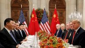 U.S. President Donald Trump, U.S. Secretary of State Mike Pompeo, U.S. President Donald Trump's national security adviser John Bolton and Chinese President Xi Jinping attend a working dinner after the G20 leaders summit in Buenos Aires, Argentina December 1, 2018. REUTERS/Kevin Lamarque - RC1AD6CD3AA0