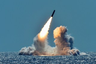 An unarmed Trident II D5 missile is test-launched from the Ohio-class U.S. Navy ballistic missile submarine USS Nebraska off the coast of California, U.S. March 26, 2018. Picture taken March 26, 2018. U.S. Navy/Mass Communication Specialist 1st Class Ronald Gutridge/Handout via REUTERS.   ATTENTION EDITORS - THIS IMAGE WAS PROVIDED BY A THIRD PARTY - RC18839E3160