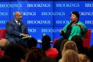 Brookings hosts political leader Stacey Abrams in a conversation about race and political power in the United States with Jelani Cobb, Columbia University's Lipman professor of journalism Friday, Feb. 15, 2019 in Washington. (Sharon Farmer/sfphotoworks)
