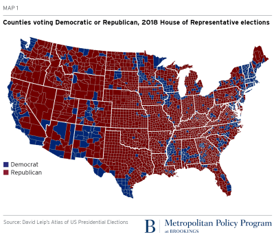 Map Of Us Counties By Political Party A vast majority of counties showed increased Democratic support in