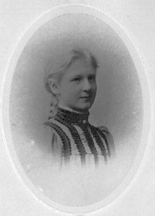 Isabel V. January as a young girl