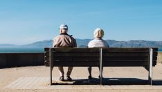 older couple looks out at the view