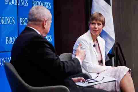 The president of Estonia speaks at Brookings.
