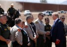 DATE IMPORTED:April 05, 2019U.S. President Donald Trump speaks with U.S. Border Patrol Agents and local law enforcement officers and sheriffs as he visits the U.S.-Mexico border in Calexico, California, U.S., April 5, 2019. REUTERS/Kevin Lamarque