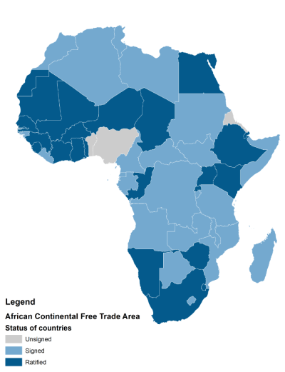 Figure 1: Africa is now the world's largest free trade area