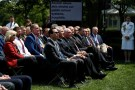 U.S. President Donald Trump's cabinet, including Treasury Secretary Steven Mnuchin, listen as he speaks about his administration's proposals to change U.S. immigration policy in the Rose Garden of the White House in Washington, U.S., May 16, 2019. REUTERS/Carlos Barria - RC19F80D2FD0