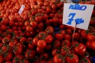 A card showing the price of tomatoes is seen at a food market in Istanbul, Turkey, February 11, 2019. REUTERS/Murad Sezer - RC13CDFC8430