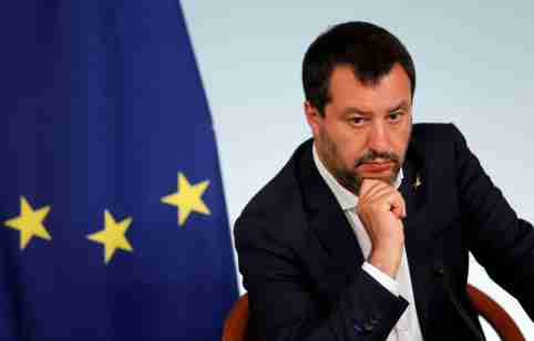 Italian Deputy Prime Minister Matteo Salvini attends a joint news conference following a cabinet meeting in Rome, Italy, June 11, 2019 REUTERS/Remo Casilli     TPX IMAGES OF THE DAY - RC19CD967310
