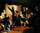 "A painting by Isidore Pils depicting Rouget de Lisle singing ""La Marseillaise"""
