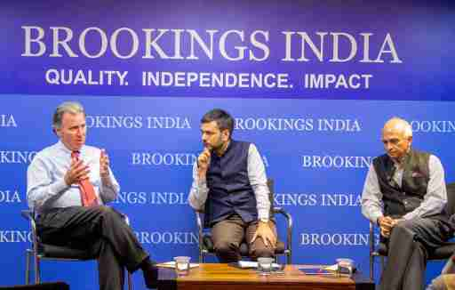 Sir Oliver Letwin, Conservative Member of Parliament for West Dorset, Dr. Constantino Xavier, Fellow, Foreign Policy, Brookings India and   Ambassador Ranjan Mathai, former Indian Foreign Secretary (2011–2013) and High Commissioner to the United Kingdom (2013–2015) at an event on Brexit