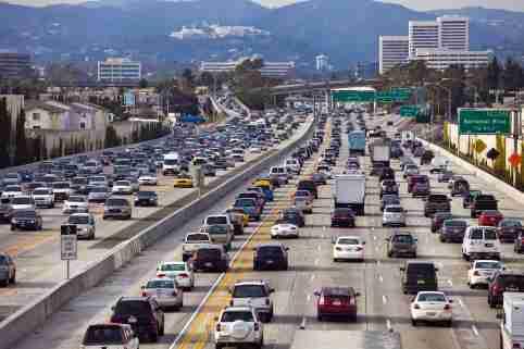 Traffic jam in LA