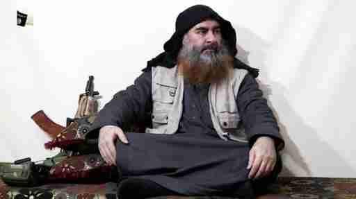 A bearded man with Islamic State leader Abu Bakr al-Baghdadi's appearance speaks in this screen grab taken from video released on April 29, 2019. Islamic State Group/Al Furqan Media Network/Reuters TV via REUTERS. THIS IMAGE HAS BEEN SUPPLIED BY A THIRD PARTY. THE AUTHENTICITY AND DATE OF THE RECORDING COULD NOT BE INDEPENDENTLY VERIFIED BY REUTERS. - RC1A82D43980