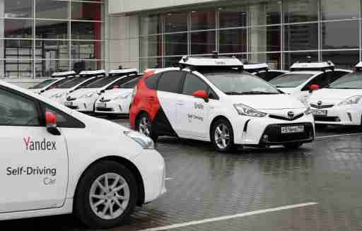 A view shows self-driving cars owned and tested by Yandex company during a presentation in Moscow, Russia August 16, 2019. Picture taken August 16, 2019. REUTERS/Evgenia Novozhenina - RC1685FF8CC0