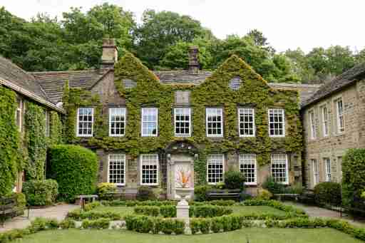 Mansion covered in ivy