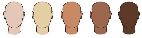 An illustration depicting various skin tones.