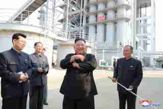 North Korean leader Kim Jong Un attends the completion of a fertiliser plant, in a region north of the capital, Pyongyang, in this image released by North Korea's Korean Central News Agency (KCNA) on May 2, 2020. KCNA/via REUTERS ATTENTION EDITORS - THIS IMAGE WAS PROVIDED BY A THIRD PARTY. REUTERS IS UNABLE TO INDEPENDENTLY VERIFY THIS IMAGE. NO THIRD PARTY SALES. SOUTH KOREA OUT. - RC2RGG99L9GS