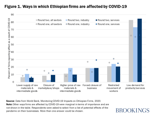 Figure 1. Ways in which Ethiopian firms are affected by COVID-19