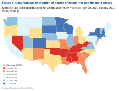 Map: geographical distribution of deaths of despair