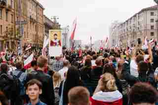 Peaceful protests in Belarus. August 23, 2020