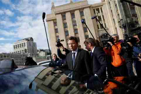 Ambassador of Germany to Russia Geza Andreas von Geyr is seen outside the Russian Foreign Ministry in Moscow, Russia September 9, 2020. REUTERS/Evgenia Novozhenina