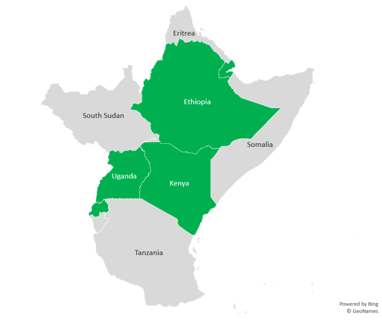 Figure 1. East African countries that have deposited the ratification of the AfCFTA with the African Union, September 2020