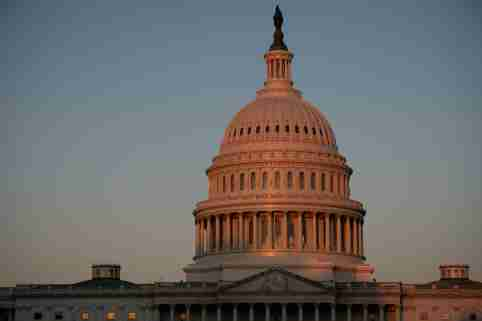 FILE PHOTO: A general view of the U.S. Capitol Building in Washington, D.C., on October 14, 2020.  (Graeme Sloan/Sipa USA)No Use UK. No Use Germany.//File Photo