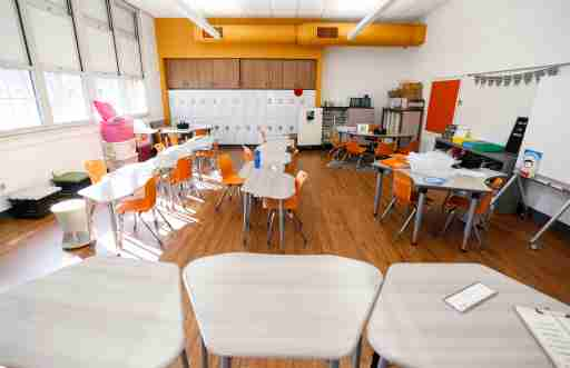A renovated classroom in Sunshine Elementary on Monday, Oct. 5, 2020. The nearly $14 million project was funded by the $168 million bond issue approved by voters in April 2019.Tsunshine00048