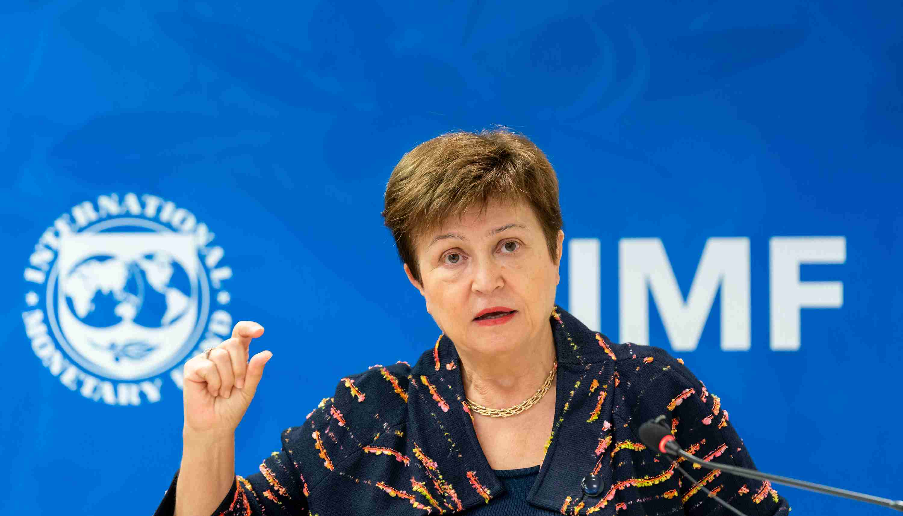 Washington, United States.- IMF Managing Director Kristalina Georgieva, participates in the 2020 Annual Meetings of the International Monetary Fund (IMF) in Washington DC, United States on October 9, 2020. African countries will need 1.2 trillion dollars until 2023 to repair the economic damage caused by the coronavirus pandemic, Georgieva said this Friday (9), while the commitments of official lenders and international institutions cover less than a quarter of the projected need.
