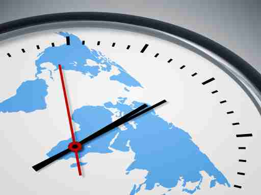 Clock with world map background