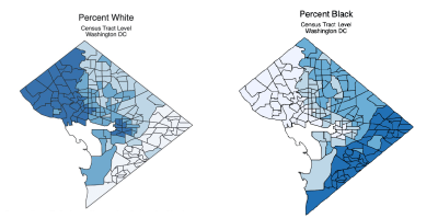 Figure 1 showing race by census tract in Washington, DC