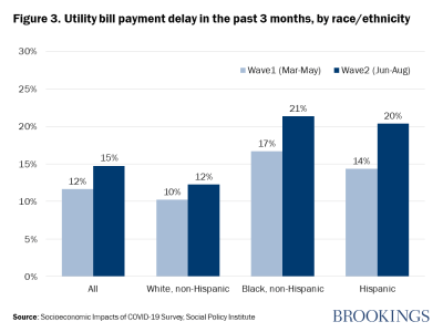 Figure 3. Utility bill payment delay in the past 3 months, by race/ethnicity