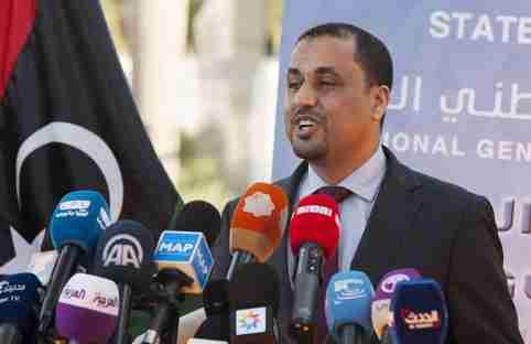 Saleh al-Makzom, deputy president of Libya's General National Congress (GNC), speaks during UN-brokered talks in Skhirat, near Rabat, Morocco June 25, 2015.  REUTERS/Stringer