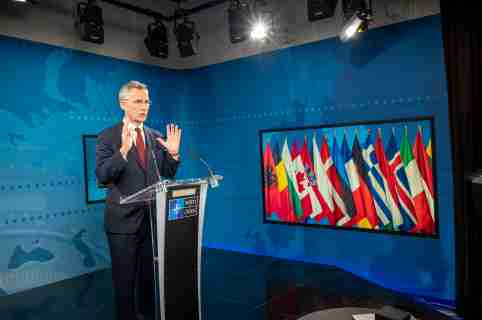 NATO Secretary General Jens Stoltenberg presents his Annual Report for 2019 during a virtual press conference at NATO headquarters. NATO remains strong, united and able to defend itself despite the current coronavirus pandemic, alliance chief Jens Stoltenberg stressed on Wednesday, ahead of foreign ministers' talks this week.