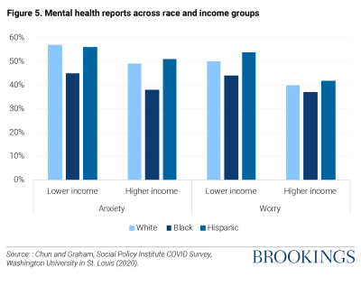 Mental health reports across race and income groups