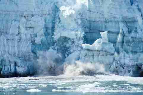 Crumbling glacier