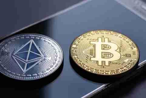 Cryptocurrency Bitcoin Ethereum Smartphone