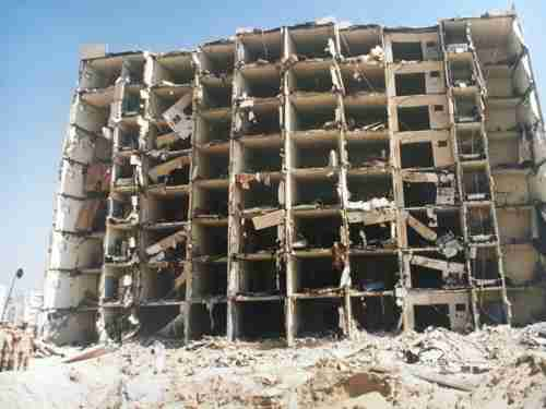 Bomb scene at Khobar towers. At about 9:30 pmin the evening of June 25, 1996, a huge explosion rocked the barracks for the United States Air Force 4404 Provisional Wing in Khobar, Saudi Arabia.