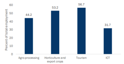 Figure 2. Share of female employment by IWOSS sector