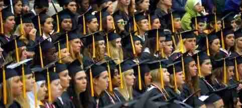 women graduating college